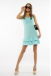 Платье с рюшами на юбке 103P006 аквамарин