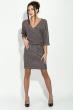 Платье женское, рукава летучай мышь 64PD310-4 черно-розовый