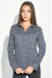Блузка женская праздничная, легкая 64PD155 сине-белый (звезды)