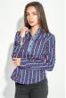 Блузка женская праздничная, легкая 64PD155 сине-салатовый (розы)