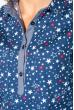 Блузка женская праздничная, легкая 64PD155 персиковый (цветочки)