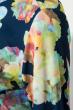 Блузка женская праздничная, легкая 64PD155 бело-синий (вензеля)