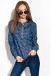 Блузка женская праздничная, легкая 64PD155 сине-красный (сердца)