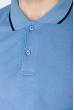 Классическое поло 104P050 голубой
