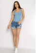 Боди женское с косточками 629F001 голубой