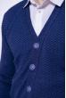 Кофта мужская на пуговицах 129P7005 синий