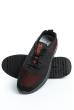 Кроссовки 11P098 черно-красный