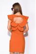 Платье с воланами 120PLTR131 кирпичный