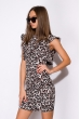Платье с воланами 120PLTR131 леопардовый
