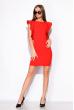Платье с воланами 120PLTR131 красный