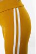 Брюки женские спортивные с лампасами 611F003 горчично-белый