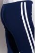 Брюки женские спортивные с лампасами 611F003 сине-фиолетовый / белый