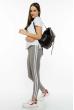 Брюки женские спортивные с лампасами 611F003 стальной-белый