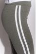 Брюки женские спортивные с лампасами 611F003 серо-белый