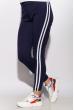 Брюки женские спортивные с лампасами 611F003 темно-синий / белый