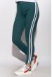 Брюки женские спортивные с лампасами 611F003 изумрудно-белый
