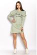 Платье-туника с рюшами на рукавах 626F014 оливковый