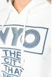 Костюм женский спорт с надписью 499F002 молочно-синий