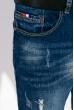 Джинсы мужские укороченные 389V001 синяя варенка
