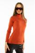 Гольф женский однотонный 620F001 оранжево-коричневый