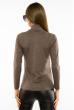 Гольф женский однотонный 620F001 бежево-коричневый