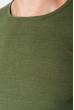 Джемпер мужской однотонный 168F038 хаки