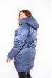 Куртка женская с капюшоном 120PSKL908 серо-сизый