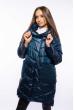 Куртка женская с капюшоном 120PSKL908 зелено-синий
