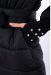 Женская куртка с митенками  120PSKL5219 черный