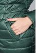 Куртка женская удлиненная, с пуговицами в виде клыка 68PD161 темно-зеленый