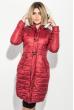 Куртка женская удлиненная, с пуговицами в виде клыка 68PD161 бордо