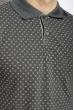 Поло с мелким рисунком 624F010 серый