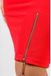 Платье женское для пышных дам 37P003 коралловый