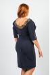 Платье женское для пышных дам 37P003 темно-синий