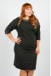 Платье женское для пышных дам 37P003 черный