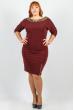 Платье женское для пышных дам 37P003 сливовый