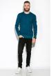Джемпер 520F015 бирюзовый / темно-синий