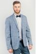 Пиджак светлый мужской на две пуговицы №197F009 бело-синий