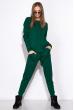 Вязанный женский костюм 120PSKL019 зеленый