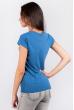 Футболка женская с принтом №1B003 серо-синий
