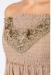 Платье женское до колена №19PG026 бежевый