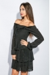 Платье женское до колена №19PG026 черный