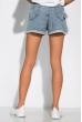 Модные джинсовы шорты 162P013 светло-синий