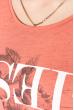 Джемпер женский с цветочным принтом 516f101 коралловый меланж