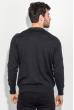 Джемпер мужской фактурный узор 50PD543 серо-черный