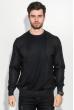 Джемпер мужской фактурный узор 50PD543 черно-серый