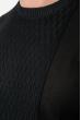 Джемпер мужской фактурный узор 50PD543 черный