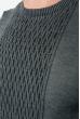 Джемпер мужской фактурный узор 50PD543 сиренево-серый