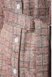 Платье (полубатал) женское с поясом 64PD290 фрез-зеленый , клетка