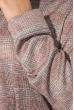 Платье (полубатал) женское с поясом 64PD290 фрез-серый , клетка